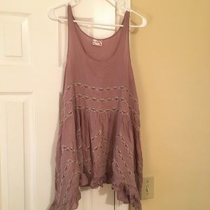Free People Intimates Voile and Lace Trapeze Slip